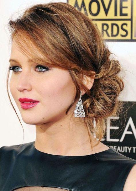 medium length hairstyles updo