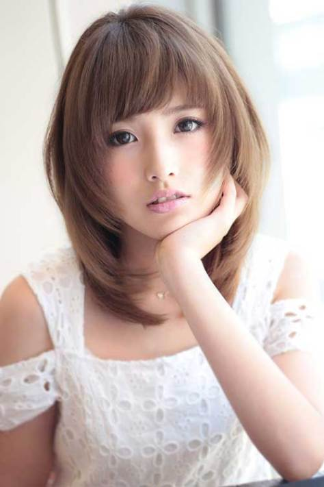 medium length hairstyles asian