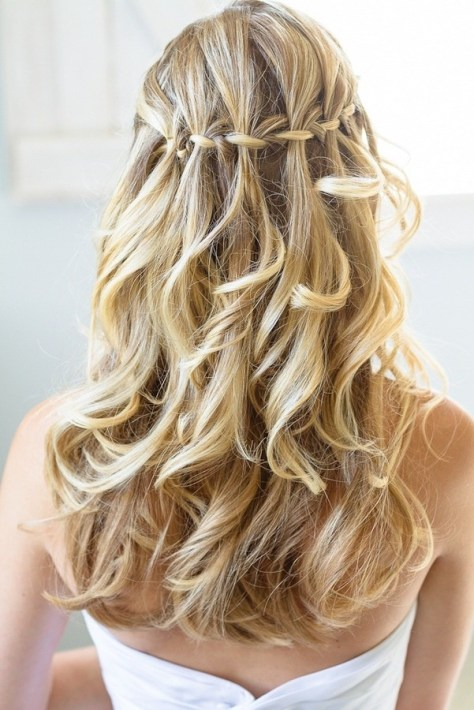 prom hairstyles waterfall