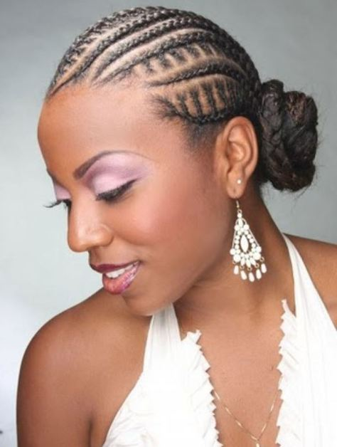 black hairstyles cornrows