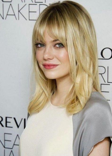 medium hairstyles with fringe