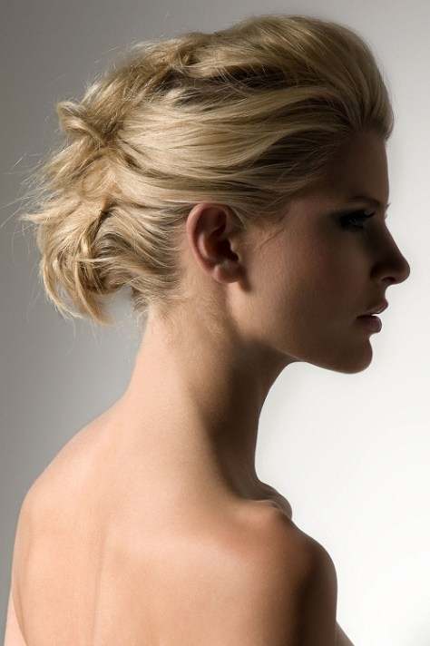 medium hairstyles updo