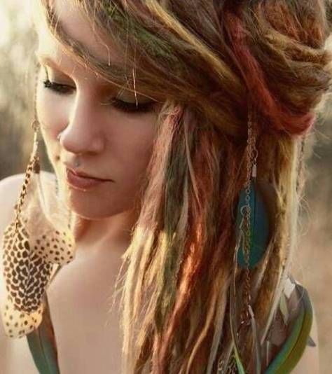 medium hairstyles bohemian