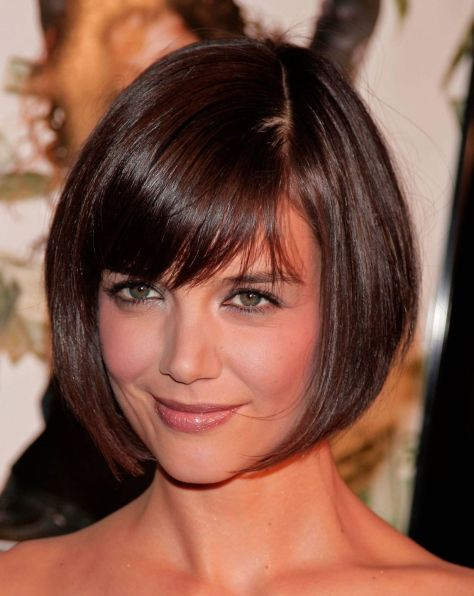 Classic bob hairstyle with original plunging sides. The throughout haircut at different lengths and shapes gives very beautiful sense of volume.