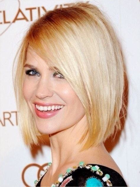 Fashionable short to long hairstyle with a sleek outline