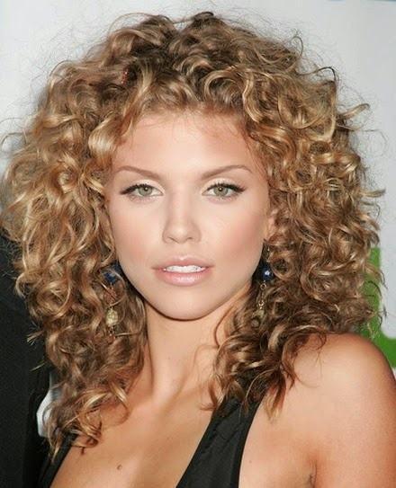 Long spiraling hair with corkscrew curls