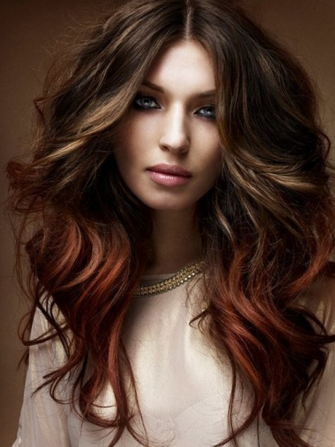 Professional long hairstyle with large curls
