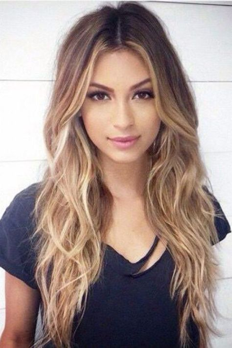 Fresh hairstyle that requires a little bit of work, for women with long hair