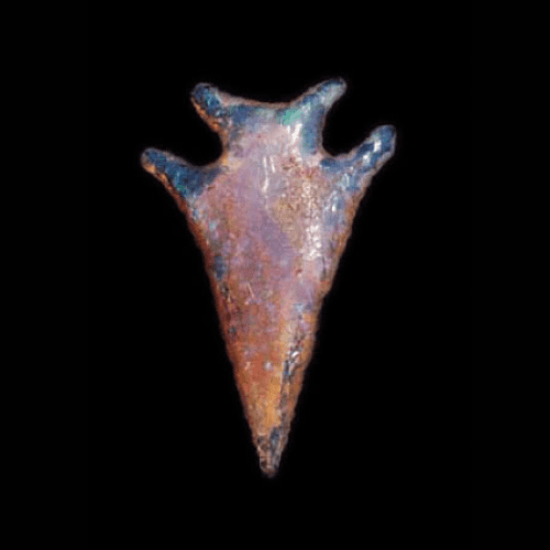 Fire Opal Arrowhead