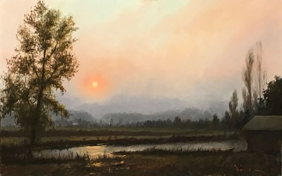 Smokey Summer Sunset by David Terry
