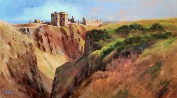 Dunnator Castle on New Year's Day by Charity Hubbard