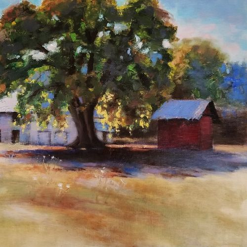 (Grid) Applegate Valley Shadows by Charity Hubbard