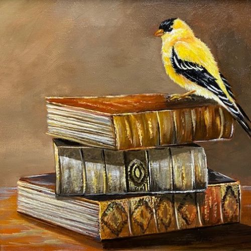 (Grid) Visitor-Goldfinch by Judy Phearson