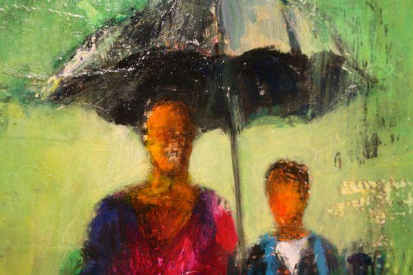 (Close-up) Walking to School by Barbara Enochian