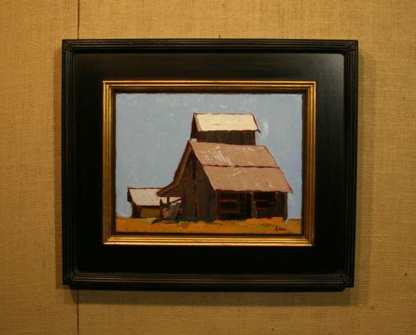 (Frame) Little Barn on the Prairie by Ilene Gienger-Stanfield