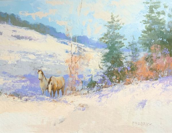 Mustangs in Winter by J. M. Brodrick