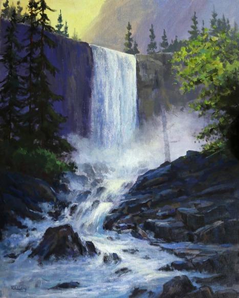 Vernal Falls, Yosemite by Randall Tillery