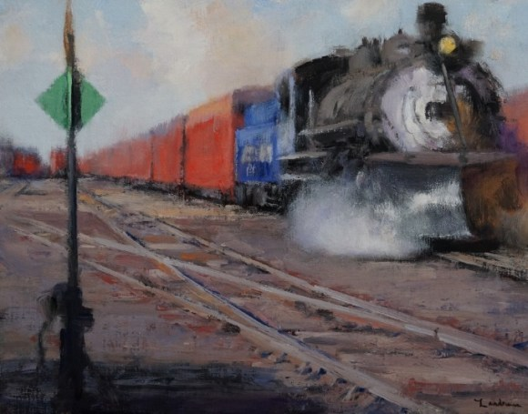The Trainyard at Chama II by Dale Landrum
