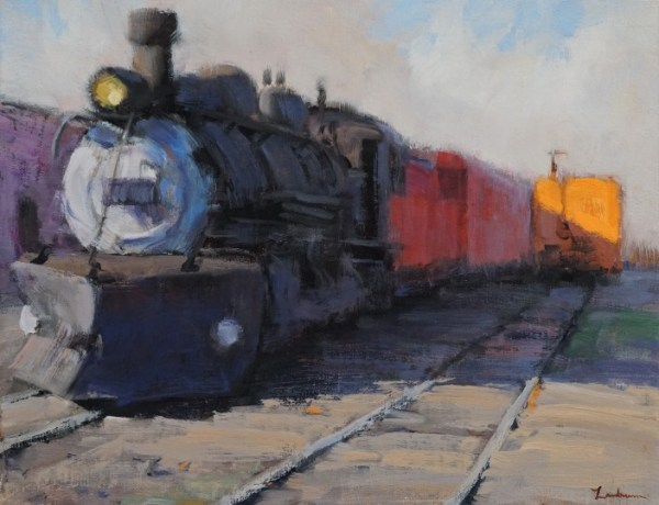 Trainyard in Early Light I by Dale Landrum