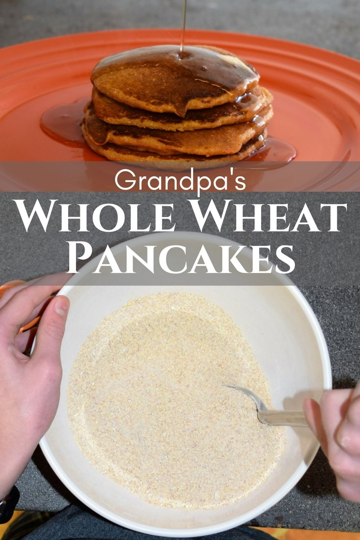 Make whole wheat pancakes into Grandpa's traditional breakfsat hearty enough to teens | Favemom.com
