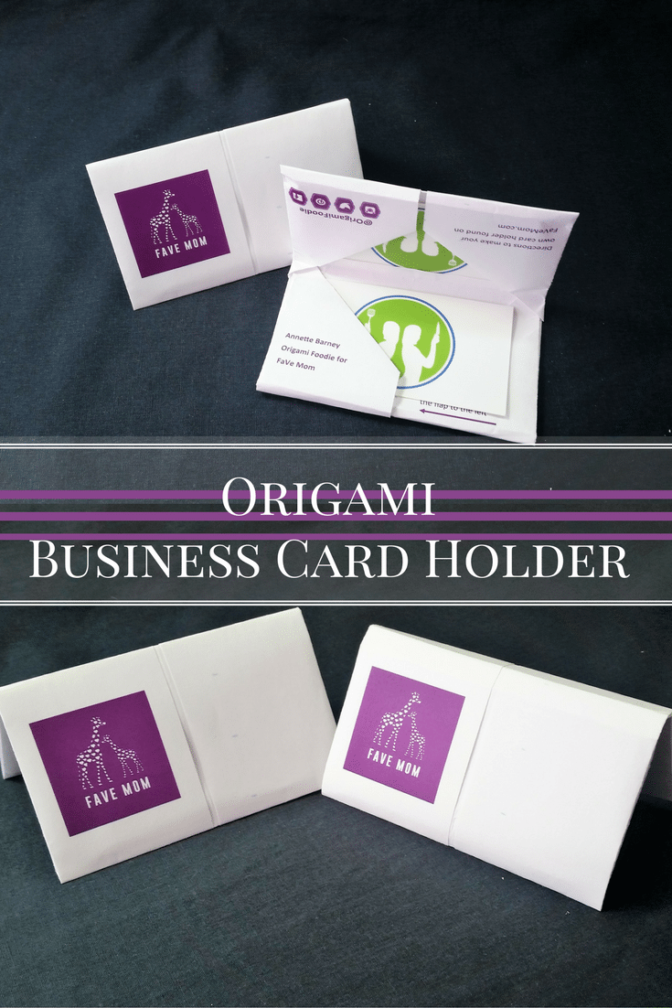 Fold your own Origami Business Card Holder with a practice printable, step by step instructions and a video