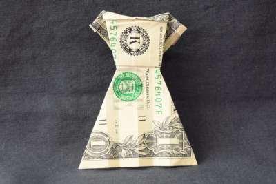 money origami dress