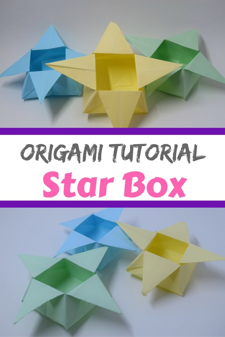 A video tutorial to show you how to fold a star box origami style