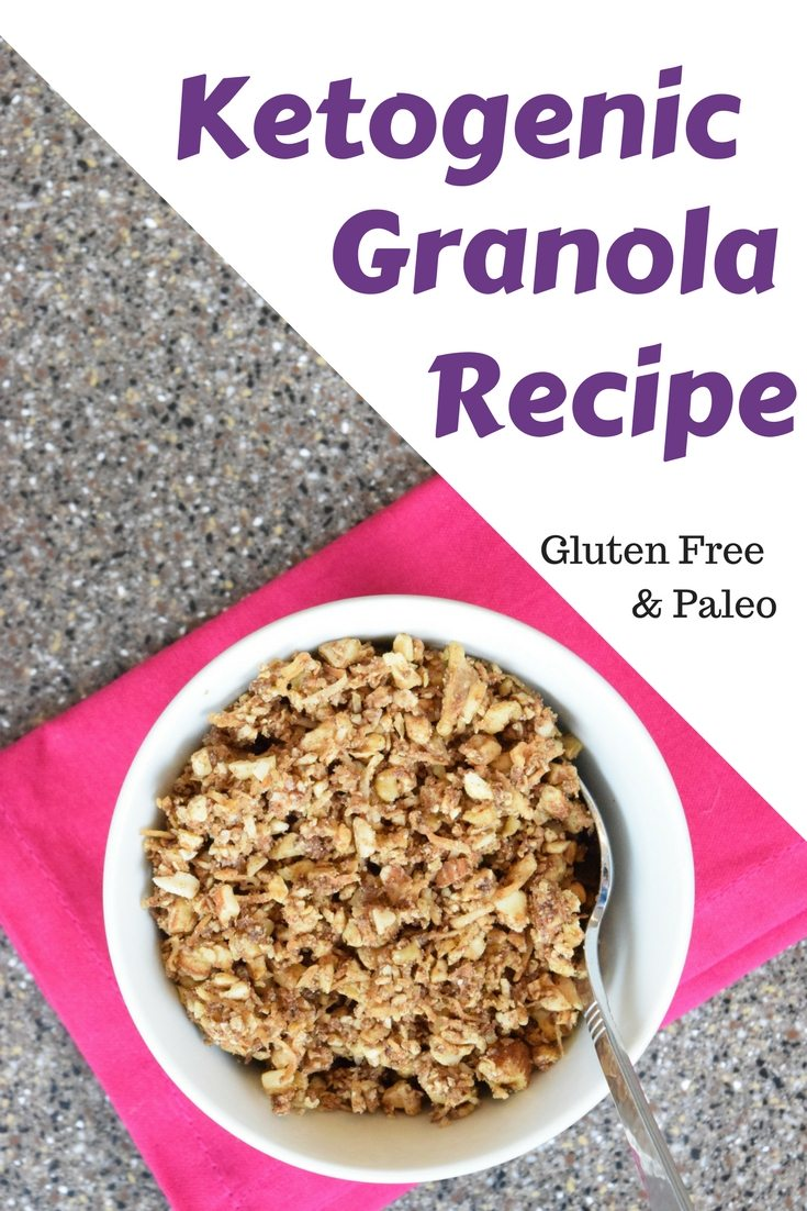 My husband with eat this No-oats Ketogentic granola recipe that is gluten free, vegetarian and paleo-friendly .