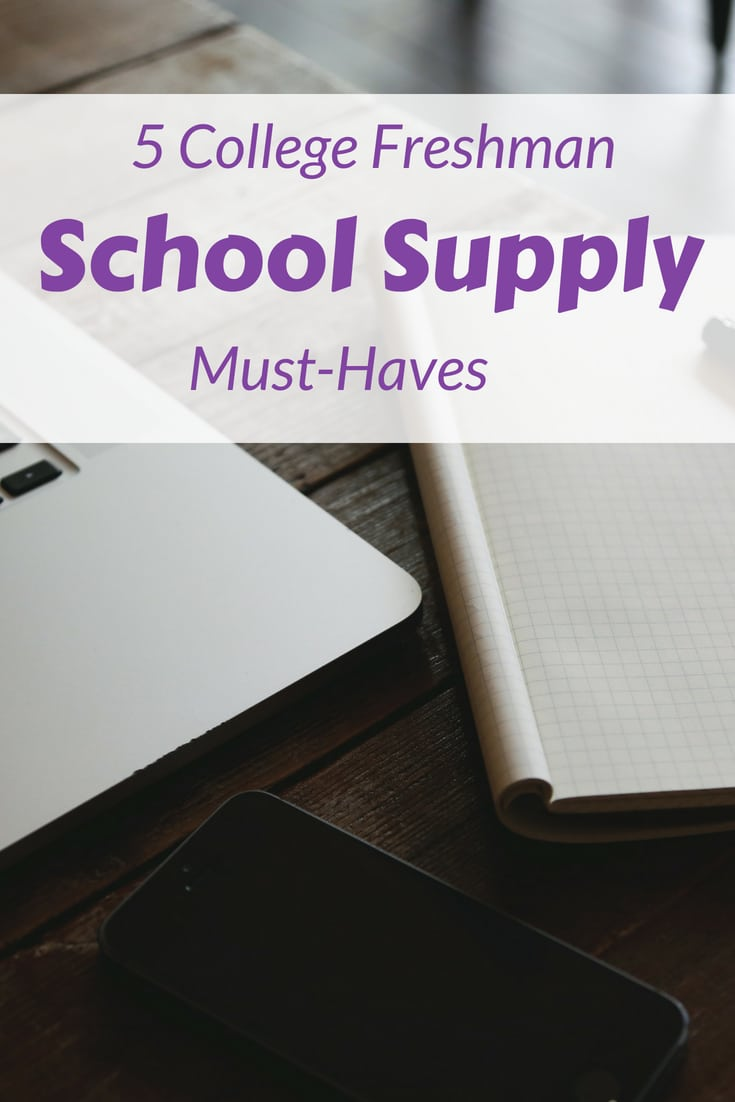 These are 5 msut haves for any college freshman. It's an inexpensive list that is easy to give in any college survival kit. Check it out on Favemom.com #collegfreshman #collegetips #freshmantips #dormlife #leavinghome