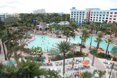 enjoy the pool at the Sapphire FAlls Resort in Universal Orlando