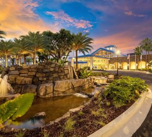 Drive up to the Sapphire Falls Resort