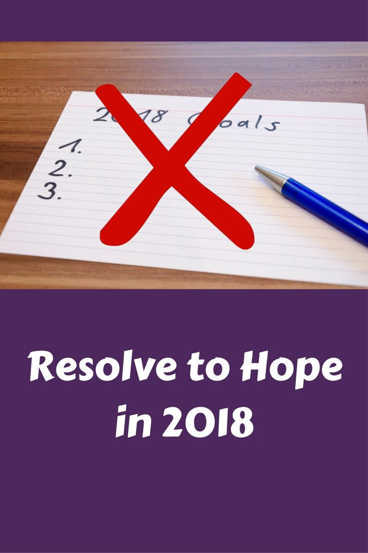 Forget making resolutions, Resolve to hope from now on. Kick the guilt and enjoy what you wanna be and wanna do. | FaveMom.com