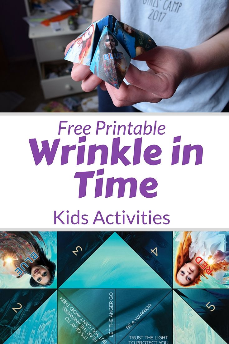 A wrinkle in Time activities for kids free printables and some tidbits about the spiritual guides to Meg #WrinkleinTime #DisneyMovie #kidsactivities