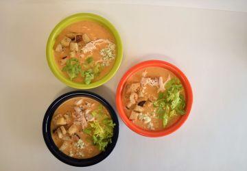 3 bowls of soup