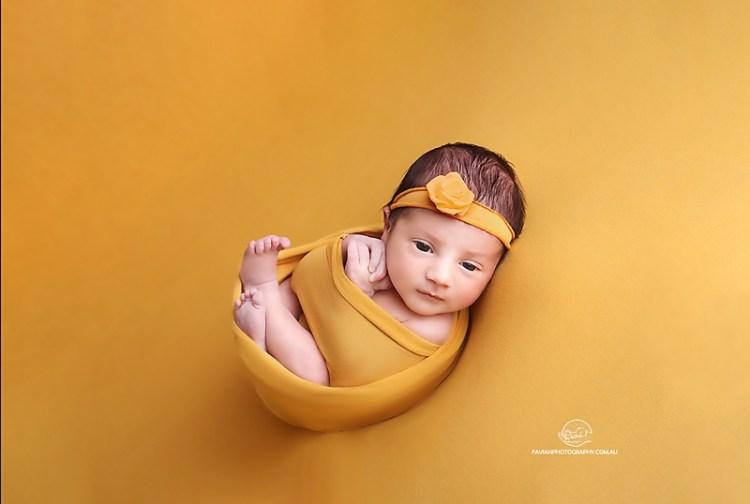 Newborn baby girl photography photo shoot Brisbane