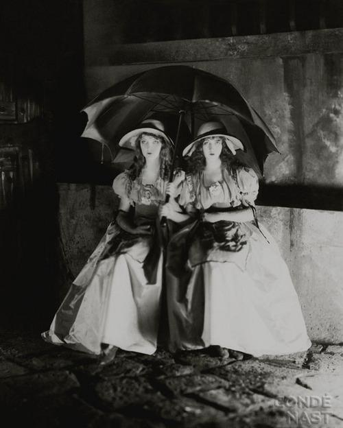 black and white, dorothy gish, film, lillian gish, movie, orphans of the storm