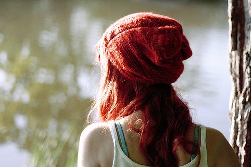 Alone Beauty Fashion Girl Hair Red Hair Image