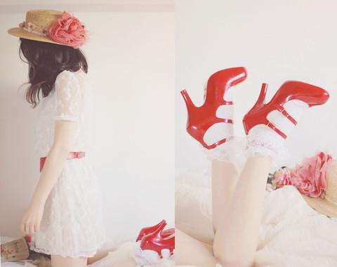 beauty, dres, flower, girl, legs, melissa