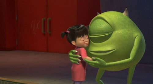 Image result for mike hugging boo
