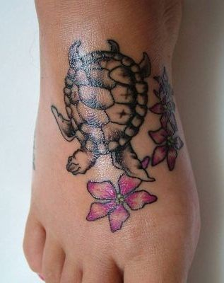 turtle tattoos foot images pics. Black Bedroom Furniture Sets. Home Design Ideas