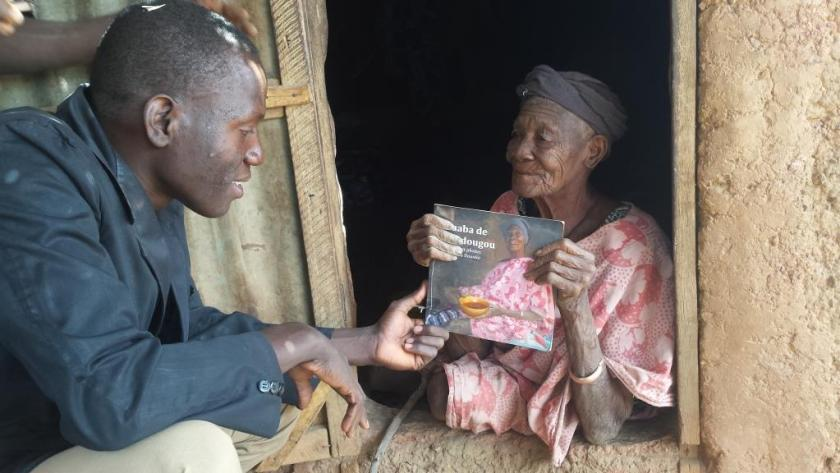 yaaba with book