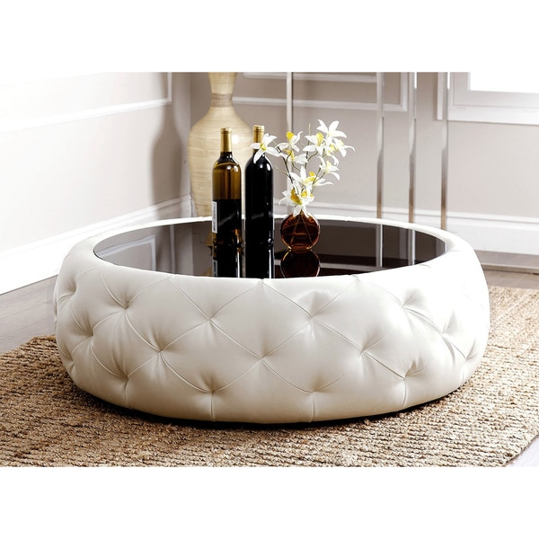 round leather coffee table favorave