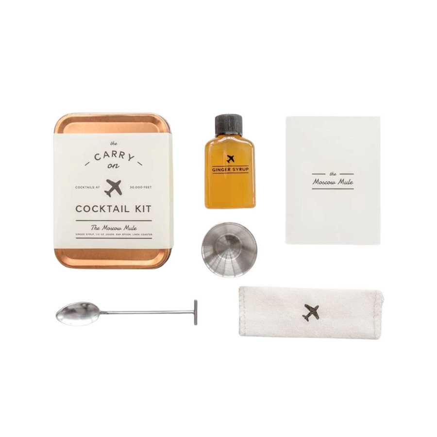 Carry On All-in-One Portable Craft Cocktail Kit Ingredients - Perfect Birthday Gift For Boss