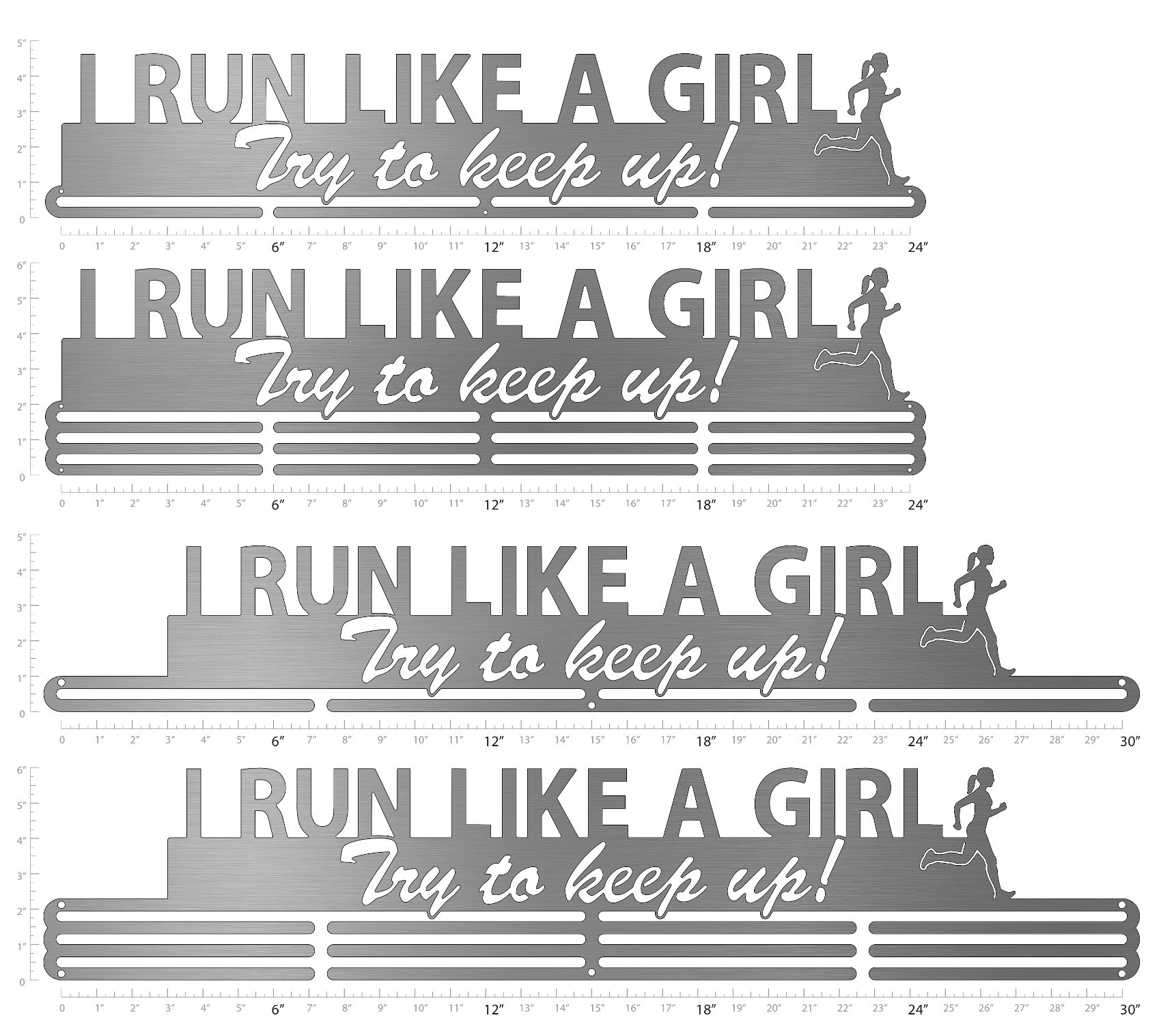 I Run Like A Girl Try To Keep Up Medal Display