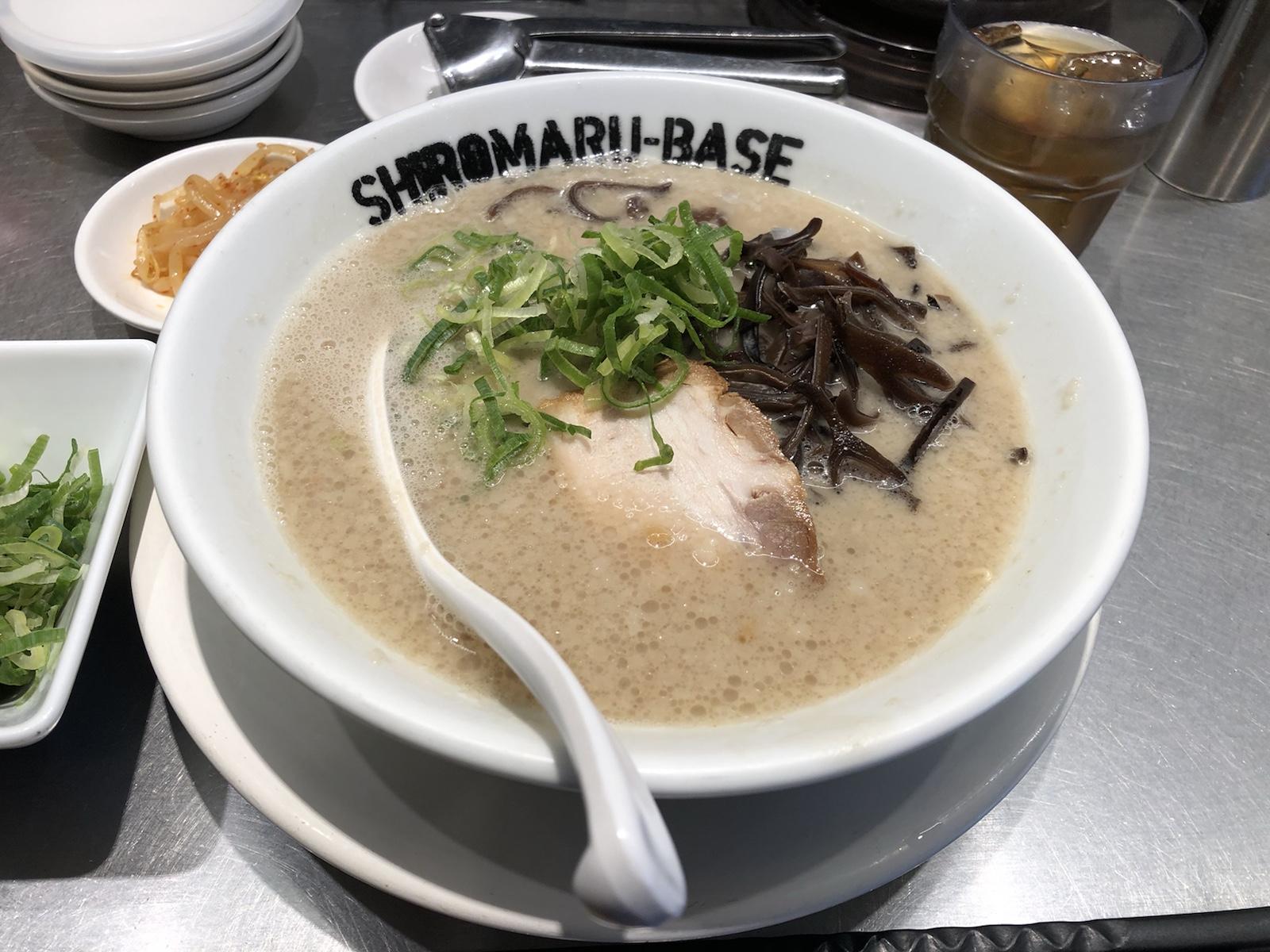 旨味たっぷり特濃スープ!創業当時の味「一風堂SHIROMARU BASE」