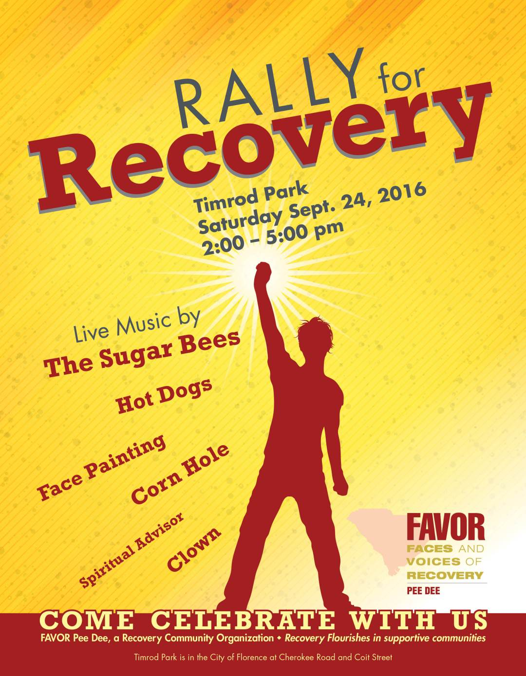 59891 Frank McIntyre 8.5x11 Rally for Recovery Flyer