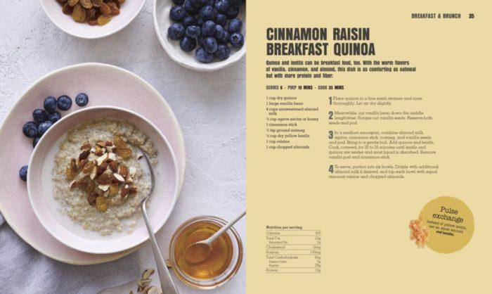 Cinnamon Raisin Breakfast Quinoa - Pulse Revolution - DK Canada - Book Review