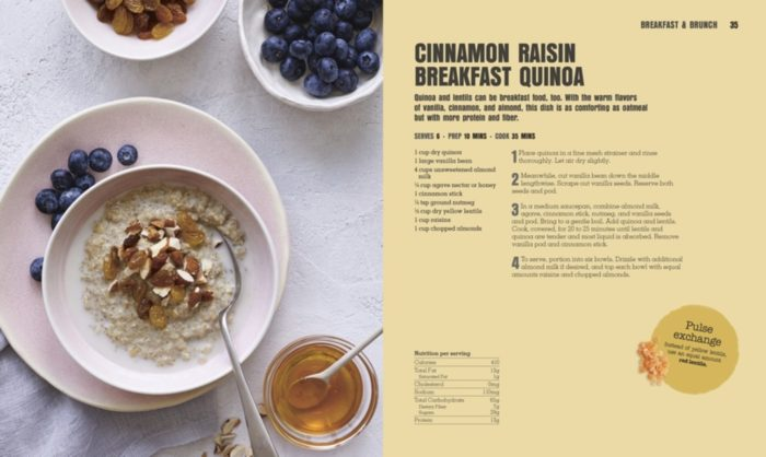 Cinnamon Raisin Breakfast Quinoa - Pulse Revolution - DK Canada - Book Review