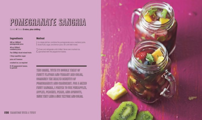 Pomegranate Sangria - Mocktails, Punches and Shrubs Book Review - DK Canada
