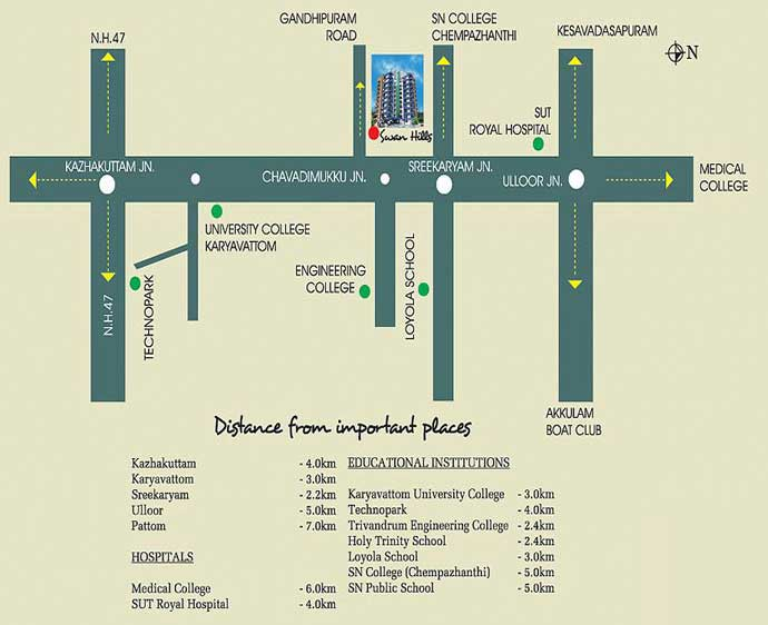 Swan Hills location map